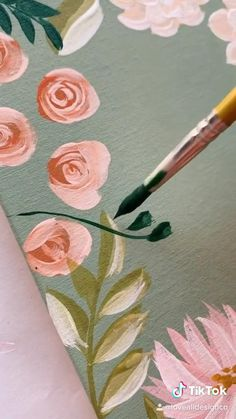 Canvas Painting Tutorials, Canvas Painting Designs, Simple Canvas Paintings, Acrylic Painting Flowers, Painted Flowers, Acrylic Art, Acrylic Painting Canvas, Fabric Painting, Painting Techniques