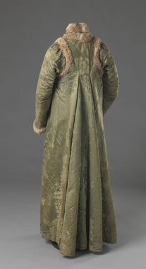 Coat (image 2) | Norway | 1800 | silk, fur, wool | National Museum of Art, Architecture and Design, Oslo | Identifier: OK-05687