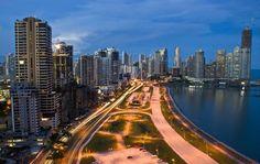 Vista Cinta Costera , Panamá . Espectacular