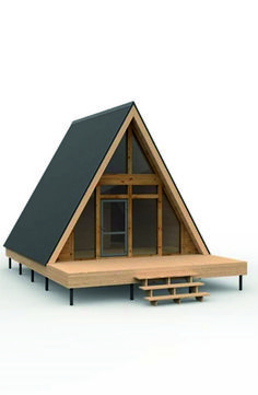 Small Tiny House, Tiny House Cabin, Log Cabin Homes, Cabins, Tyni House, Dome House, Cabin Design, Tiny House Design, A Frame Cabin Plans