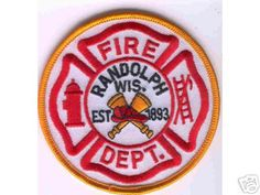 Wisconsin - Randolph Fire Dept - PatchGallery.com Online Virtual Patch Collection By: 911Patches.com - Fire Departments EMS Ambulance Rescue Police Sheriffs Depts Law Enforcement and Public Safety Patches Emblems Logos
