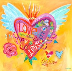 """Love for All"" kids wall decor by Donna Ingemanson for Oopsy daisy, Fine Art for Kids $119"
