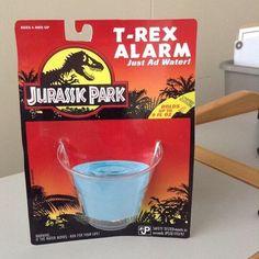 "This super hi-tech T-Rex alarm.   36 Things Everyone Who Loves ""Jurassic Park"" Will Appreciate"