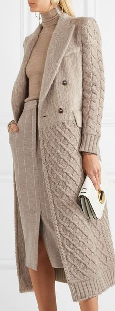 Max Mara Alda paneled wool and cashmere-blend coat