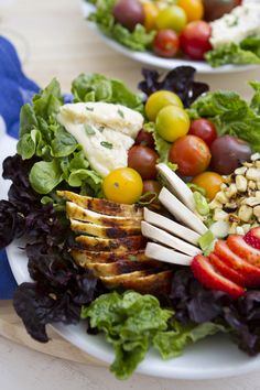 Grilled Chicken Salad with Strawberry Vinaigrette Recipe on FamilyFreshCooking.com