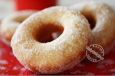 small Batch Vanilla Scented Yeast Doughnuts Makes about 6-8 pieces