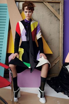 bold angular color block from Vogue