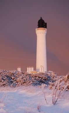 Covesea Lighthouse, Lossiemouth, Moray, Scotland.
