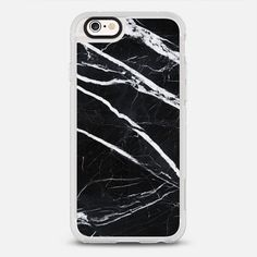 Black marble - protective iPhone 6 phone case in Clear and Clear by Cëe | @casetify