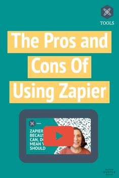 Zapier can do some pretty amazing things, and I do love getting to play around with all the possibilities. BUT it should be used with caution. Just because it can do it, doesn't mean it should. Watch this video for what I love using Zapier for and what I think you should be avoided using Zapier forl Business Planning, Business Tips, Online Business, Learn To Run, How To Start A Blog, Content Marketing, Online Marketing, Twitter Tips, Instagram Tips