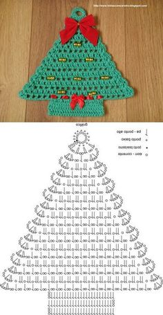 Best 12 Crochet tree, for Christmas decorations, set of 6 tree decorations, wonderful for your Christmas tree. If you want they can be - Her Crochet Crochet Christmas Decorations, Christmas Tree Garland, Crochet Christmas Ornaments, Christmas Crochet Patterns, Holiday Crochet, Christmas Knitting, Christmas Crafts, Christmas Coasters, Xmas Tree