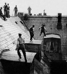 Telephone worker, Copenhagen, ca. 1900