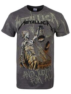 Metallica Unisex Adult's Justice Neon T Shirt - X-Large, Grey