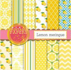 Lemon digital paper 'Lemon meringue' 12 zesty lemon by GemmedSnail  https://www.etsy.com/listing/198702035/lemon-digital-paper-lemon-meringue-12?ref=shop_home_active_20