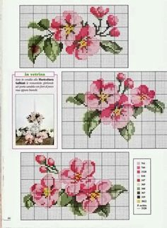 *flowers --- cross-stitch* Would be pretty as a frame Cross Stitch Books, Cross Stitch Heart, Cross Stitch Borders, Cross Stitch Flowers, Cross Stitch Designs, Cross Stitching, Cross Stitch Embroidery, Embroidery Patterns, Cross Stitch Patterns