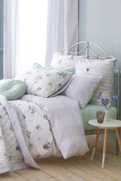 2 Pack Cotton Rich Pressed Flowers Bed Set from Next My Furniture, Bedroom Furniture, Interior Design Tips, Design Ideas, Vintage Room, Next At Home, Colour Schemes, Beautiful Bedrooms, Bedding Sets
