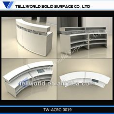 artificial stone reception desk semi-round white front desk designs for sale, View semi-round white front desk designs, TW Product Details from Shenzhen Tell World Solid Surface Co., Ltd. on Alibaba.com