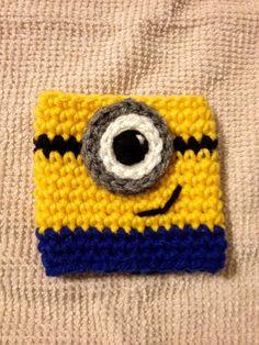 Crochet Minion Cup Cozy / Minion Cozy / Cup Cosy by GuysCrochetToo