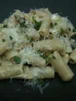 Rigatoni With Summer Squash, Spicy Sausage & Goat Cheese