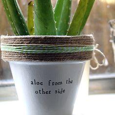 Plant puns 'n' planters by PlantPuns on Etsy