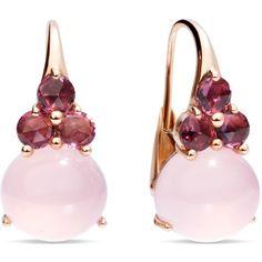 Pomellato Earrings Luna ($6,745) ❤ liked on Polyvore featuring jewelry, earrings, pink, pomellato earrings, pink jewelry, pomellato, pink earrings and pomellato jewelry
