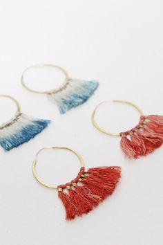 Takara Ornament Hoop Earrings, $95, handmade in Portland.