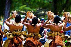 Sound of the pu (conch). #Fiji #Culture #Travel