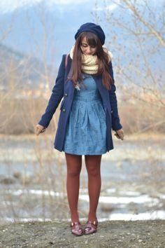 Love this look from Marzipan - I think this blue is one of my happy colors.