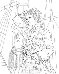steampunk coloring pages   Steampunk elements Colouring Pages