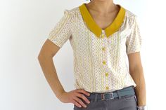 Catrin's Mimi blouse  ...and a review of the German edition of Love at First Stitch