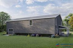 Pole Barn House Plans, Garage House Plans, Pole Barn Homes, Metal Building Homes, Building A House, Barn House Design, Barndominium Floor Plans, Stone Facade, Amazing Spaces