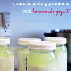 Making homemade yogurt is usually easy, but occasionally you may encounter problems. Here are some troubleshooting tips.