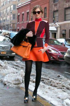 Fashion Week: les plus beaux street style de New York http://www.femina.ch/mode/street-style/fashion-week-new-york-neige-hiver