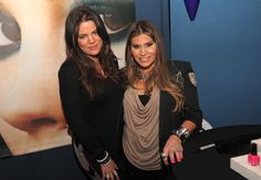 with Khloe at the Motives booth