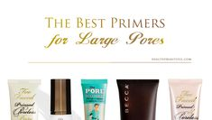 The best primers for large pores - what to use for Oily Skin, Dry skin, Sensitive skin & Combination Skin with tips & tricks to make it LAST FOR HOURS! Homemade Skin Care, Diy Skin Care, Skin Care Tips, Skin Tips, Primer For Combination Skin, Make Up Primer, Best Primer For Oily Skin, Face Primer, Skin Care Remedies