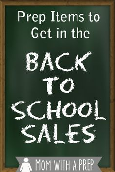 Preparedness items to get in the Back-to-school sales