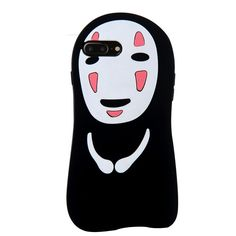 "CASESOPHY 3D Soft Silicone No Face Case for Apple iPhone 7 Plus 7+ 5.5"" Screen Cute Lovely Protective Bumper Gift for Kids Teens Girls Women Boys"