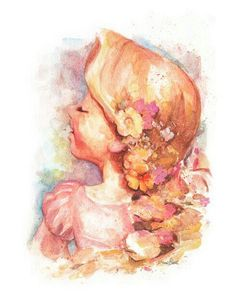 Most Beautiful Rapunzel Painting I've ever seen!