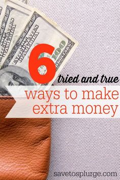 There are a ton of ways to make extra money online and offline these days. This post shares a list of 6 methods that I've used to make extra cash! Most are quick and easy! Money Making Ideas #Money Money Making Ideas, Making Money, #MakingMoney