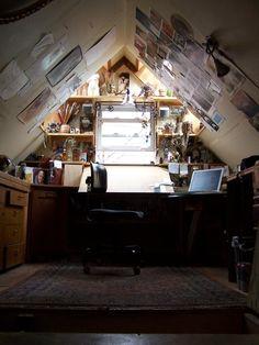 cute studio attic space #personal space #home office #attic