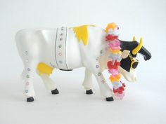 Cow Parade #9137 Rock-N- Roll, Very Nice Cond. Hard to Find!
