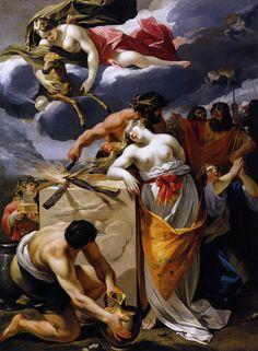 François Perrier (ca 1594-1649)-'the sacrifice of Iphigenia'-oil on canvas-(1632-1633) Dijon-Musée des Beaux-Arts