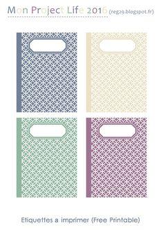 Etiquettes Imprimable - Free printable - Project Life - Pages de Scrap - Planner etc...