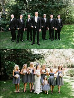wedding party ideas and flower girl in a tutu!