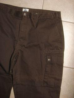 RedHead Men's 100% Cotton Cargo Pants ~ 43 X 31 ~ Brown Color  #RedHead #Cargo
