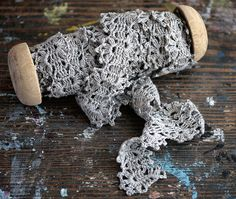 Hand crocheted linen lace trim - from Flickr - no connection to a website but just found this so beautiful and inspirational.