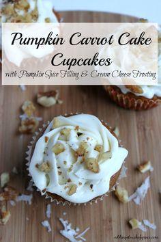 Pumpkin Carrot Cake Cupcakes