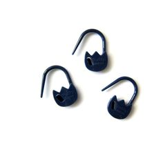 Navy Tulip Locking stitch markers from FreshStitches