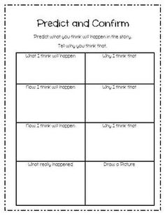 Guided Reading After Activities (Predict and Confirm)