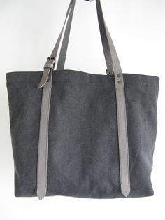 Not Denim, but still nice project: 16oz Canvas DIY Tote with Leather straps